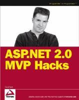 ASP.Net 2.0 MVP Hacks and Tips