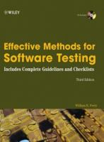 Effective Methods for Software Testing, Third Edition