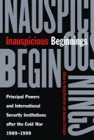 Inauspicious Beginnings