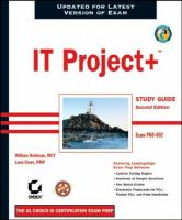 IT Project+ Study Guide, Second Edition