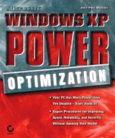 Microsoft Windows XP Power Optimization