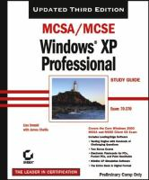 MCSA/MCSE Windows XP Professional Study Guide, 3rd Edition (70-270)