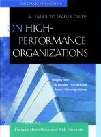 On High-performance Organizations
