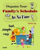 Organize your Family's Schedule-- in No Time