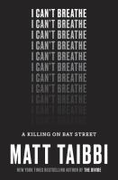 Cover of I Can't Breathe: A Killing