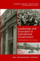 Leadership and Innovation in Subnational Government