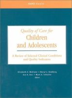 Quality of Care for Children and Adolescents