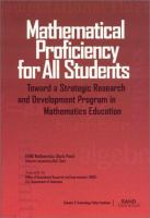 Mathematical Proficiency for All Students