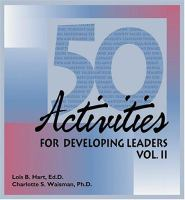 50 Activities for Developing Leaders