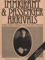Immigrant and Passenger Arrivals