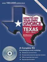How to Do your Own Divorce in Texas, 2011-2013