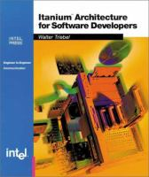 Itanium Architecture for Software Developers