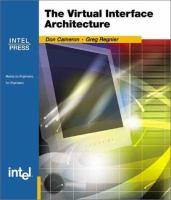 The Virtual Interface Architecture