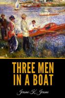 Three Men in a Boat (to say Nothing of the Dog) by Jerome K. Jerome (book cover)
