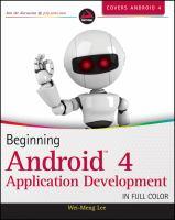 Beginning Android 4 Application Development