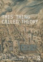 This thing called theory cover