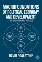 Macrofoundations of Political Economy and Development