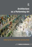Architecture as a performing art cover
