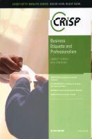 Business Etiquette & Professionalism
