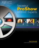 Secrets of ProShow Experts