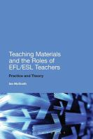 Image: Teaching Materials and the Roles of EFL/ESL Teachers