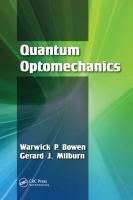 Quantum optomechanics cover