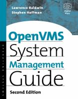 OpenVMS System Management Guide, 2nd Edition