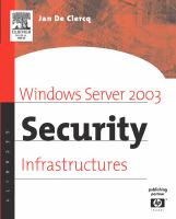 Windows Server 2003 Security Infrastructures