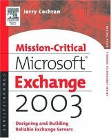 Mission-critical Microsoft Exchange 2003