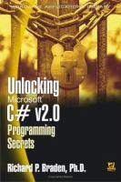 Unlocking Microsoft C# V2.0 Programming Secrets