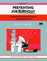 Preventing Job Burnout