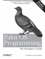 Palm OS Programming