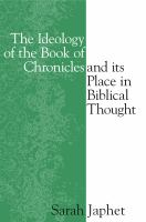 The Ideology of the Book of Chronicles and Its Place in Biblical Thought
