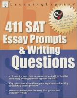 411 SAT Essay Prompts and Writing Questions