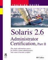 Solaris 2.6 Administrator Certificatio