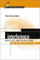 Interference Analysis and Reduction for Wireless Systems