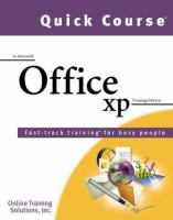 Quick Course in Microsoft Office XP