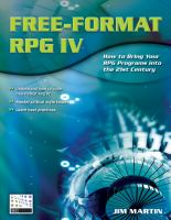 Free-format RPG IV, First Edition