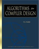 Algorithms for Compiler Design
