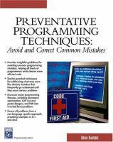 Preventative Programming Techniques