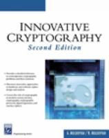 Cover image for Innovative cryptography