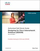 Designing for Cisco Internetwork Solutions (DESGN) (Authorized CCDA Self-study Guide), (Exam 640-863), Second Edition
