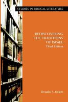 Rediscovering the Traditions of Israel