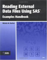 Reading External Data Files Using SAS