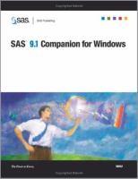 SAS 9.1 Companion for Windows