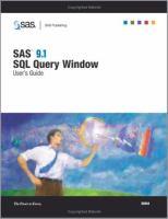 SAS 9.1 SQL Query Window