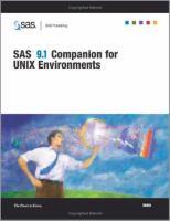 SAS 9.1 Companion for UNIX Environments
