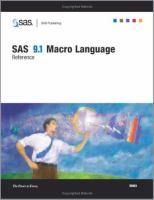 SAS 9.1 Macro Language