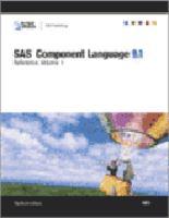SAS Component Language 9.1 Reference