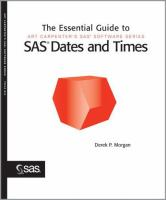The Essential Guide to SAS Dates and Times